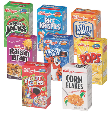 How much does an average box of cereal weigh?