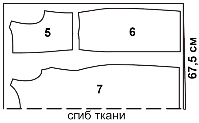 Выкройка платья с асимметричной драпировкой