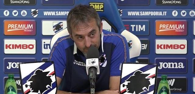 """Giampaolo: """"Con Zapata non cambia il modo di giocare. Kownacki diventerà forte. Murru spero migliori"""""""