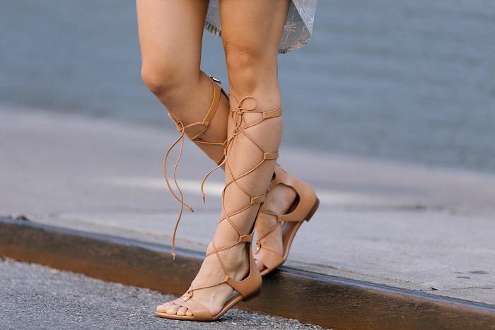 nude gladiator sandals