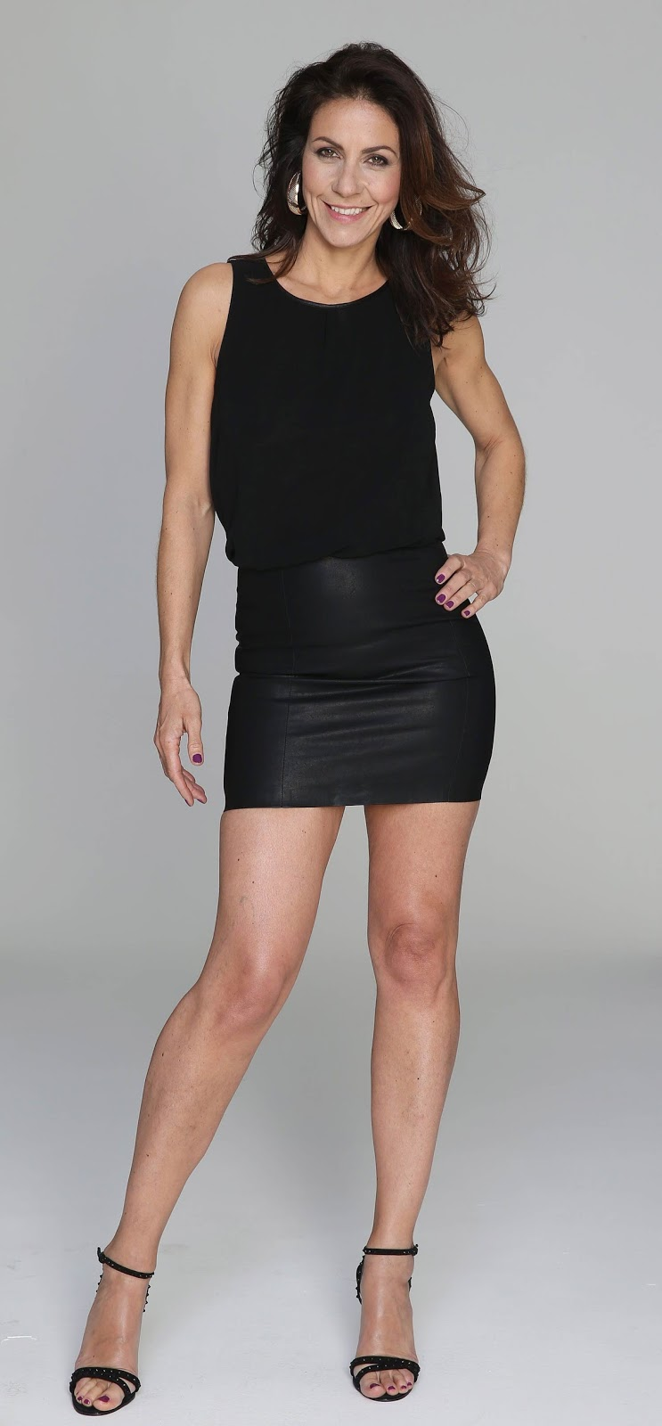 In Leather Skirt 54