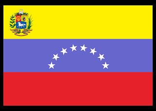 Escudo y bandera de venezuela Logo Vector