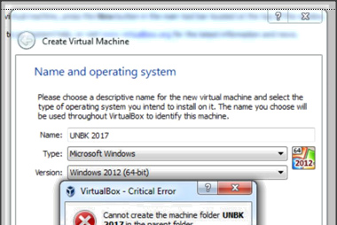 Cannot Create The Machine Saat Membuat Virtual Mesin UNBK