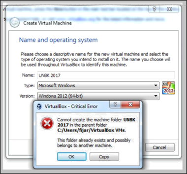 Cannot Create The Machine Saat Membuat Virtual Mesin ANBK
