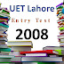 [pdf] UET lahore Entry Test Past Paper year 2008 free Download