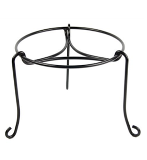 Plastec PS101BK Patio Stand, Black, 8-Inch
