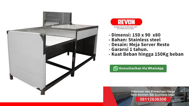 Pusat Custom Meja Dapur Stainless Steel Resto Jogja
