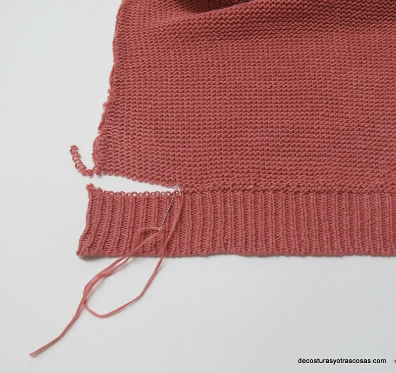 como arreglar un jersey sin que se note