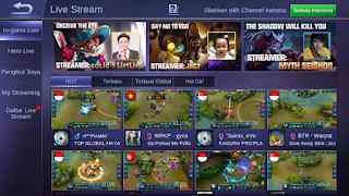 Live stremming mobile legend