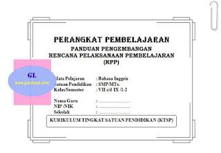 Contoh RPP Bahasa Inggris SMP MTs KTSP Lengkap