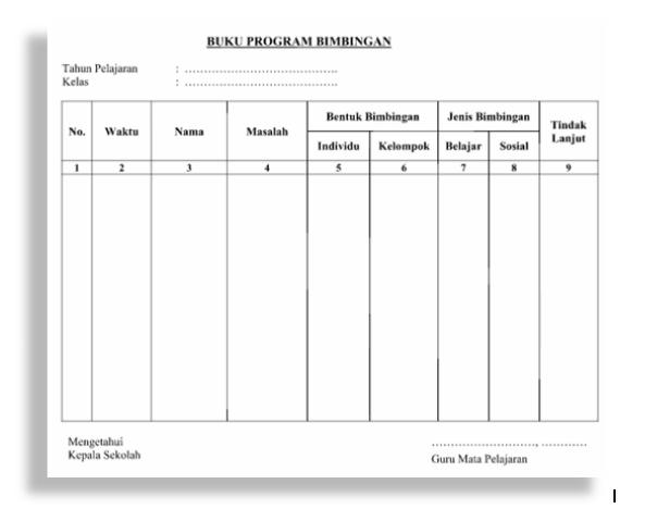 Format Program Bimbingan