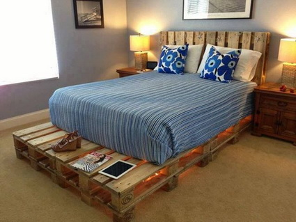 Beds Made With Wooden Pallets 8