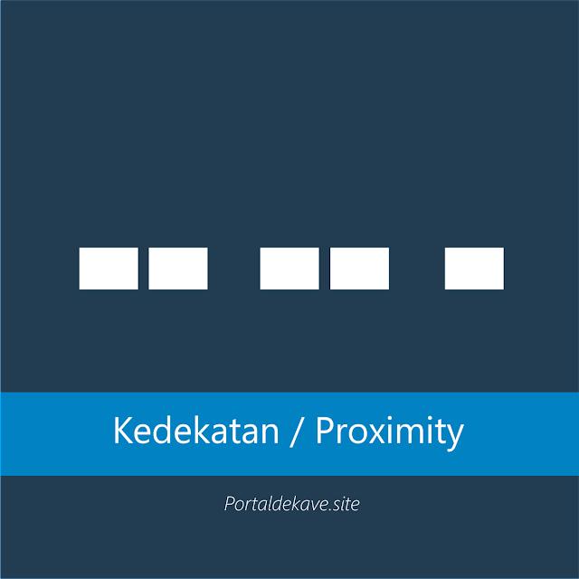 1.Kedekatan (Proximity)