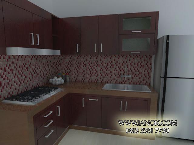 kitchen set coklat surabaya sidoarjo
