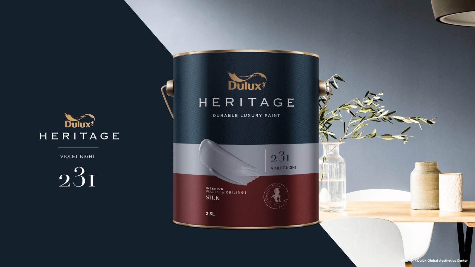 Thiết kế bao bì sản phẩm Dulux Heritage