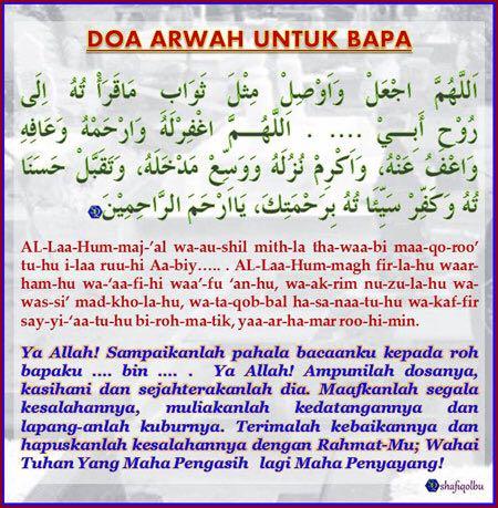 Doa untuk orang tua yang sudah meninggal dunia. [Baca