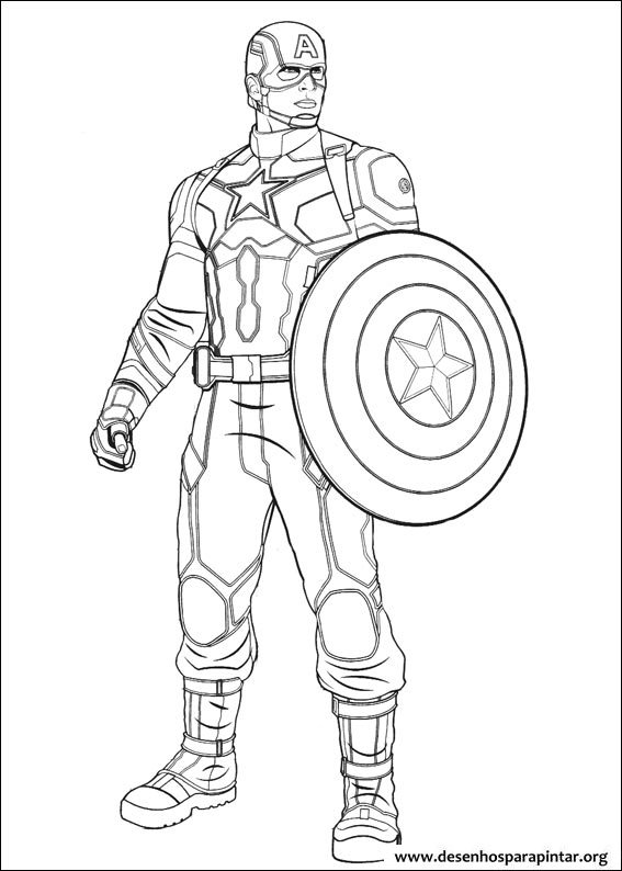 Coloring pages for kids free images captain america civil war and