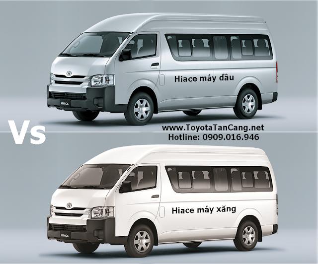 Mua xe Toyota Hiace 16 chỗ nhập khẩu: Máy dầu hay máy xăng lợi hơn?