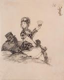 Maja and Majo by Francisco Goya - Genre Drawings from Hermitage Museum