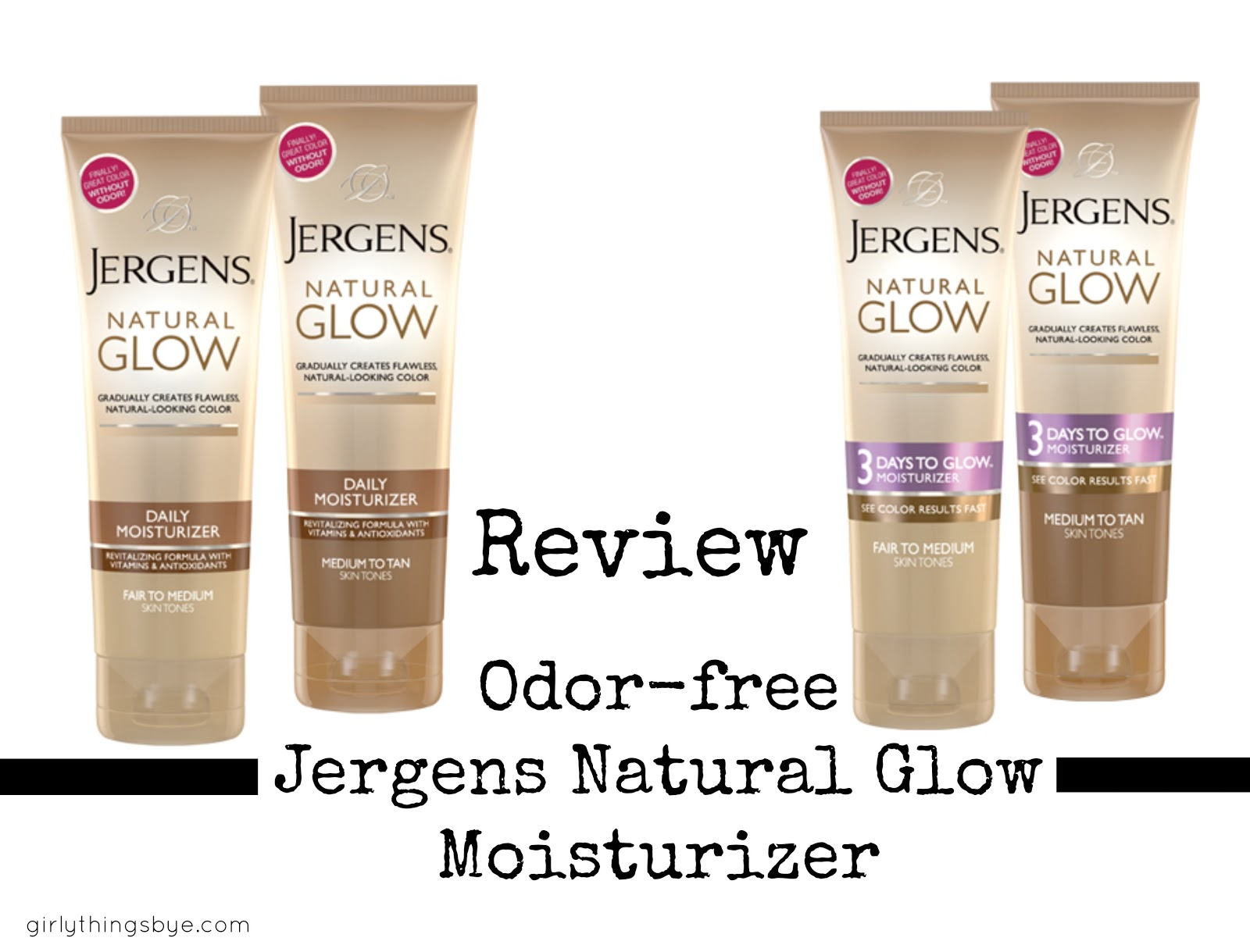 Review New Odor Free Jergen S Natural Glow Moisturizer