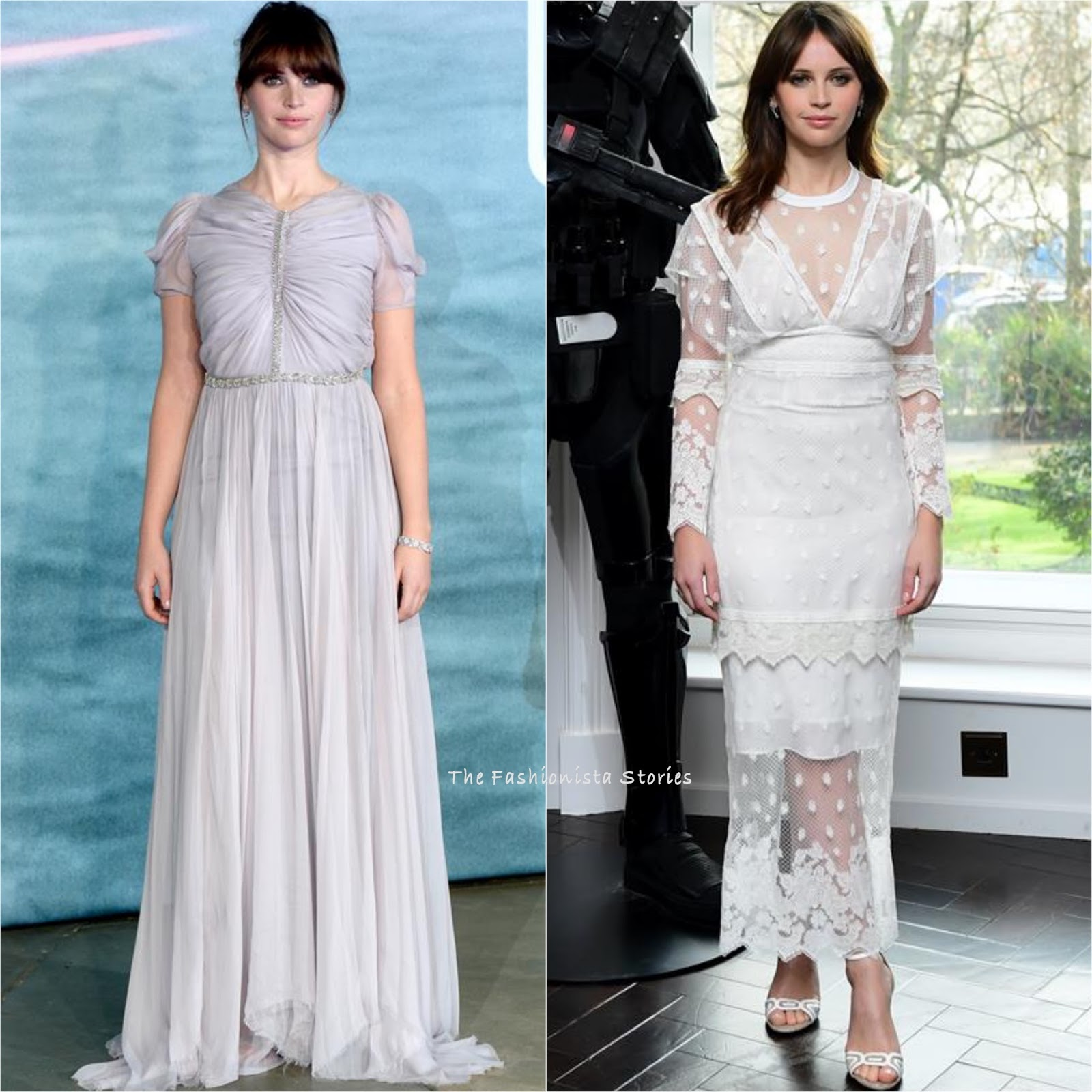 Felicity Jones in Giambattista Valli Couture & Burberry at the Rogue ...