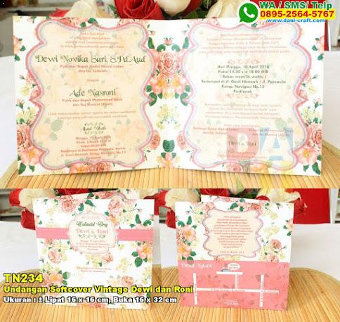 Undangan Softcover Vintage Dewi Dan Roni