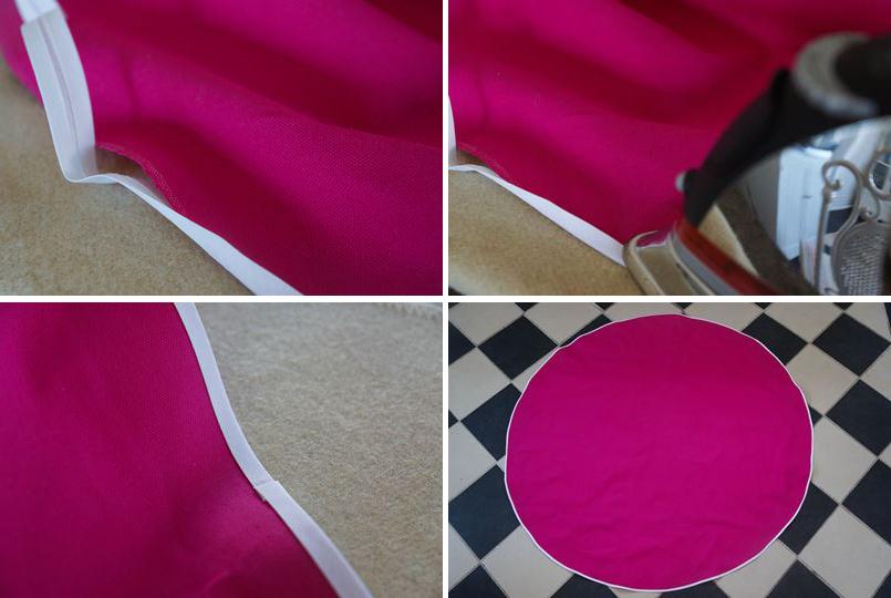 paso a paso diy manualidad costura toalla de sandía para el verano moda playa