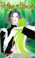 Count D abraçando uma mulher de longo cabelo verde.