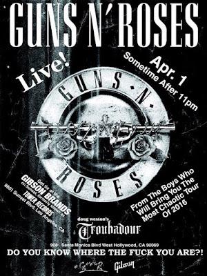 guns n' roses - 1 aprile 2016 - Troubadour