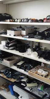 Fotografia do armário de material que existe nesta área