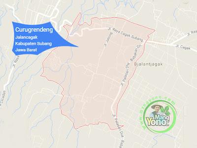 PETA : Desa Curugrendeng, Kecamatan Jalancagak