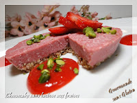 Cheesecake glacé sans lactose aux fraises