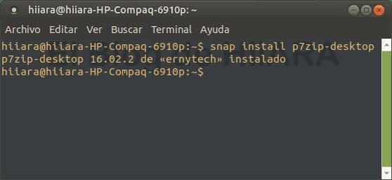 Instalar P7Zip en la terminal - El Blog de HiiARA