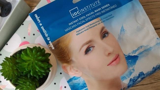 Mascarilla facial efecto frío de IDC Institute con ácido hialurónico