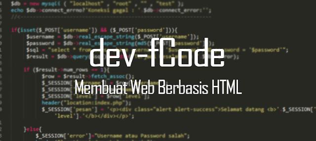 Belajar Membuat Web Berbasis HTML PEMULA