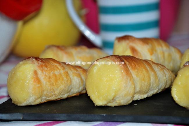 Caracolas rellenas crema pastelera