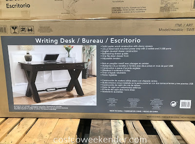 Costco 1900101 - 54in Writing Desk: modern, stylish, and practical