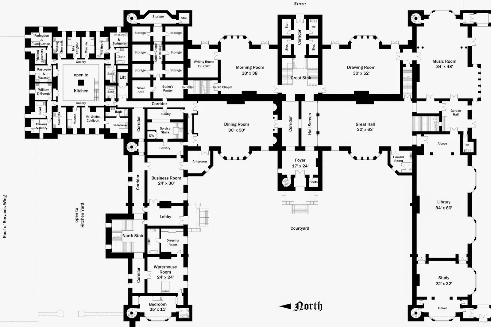 Lord Foxbridge in progress Floor Plans Foxbridge Castle – Knole House Floor Plan