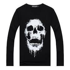 black skull t shirt