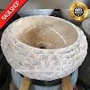 Wastafel marmer tulungagung donat pahat asli batualam diameter 40 cm