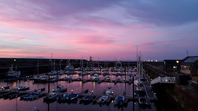 Photo of sunset over Maryport Marina