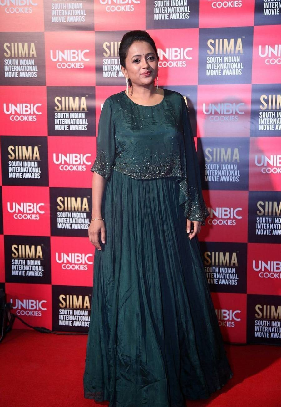 Indian TV Actress Suma Kanakala at SIIMA Awards 2019