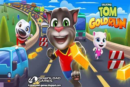 لعبة ملاحقة القط توم المتكلم للذهب TALKING TOM GOLD RUN