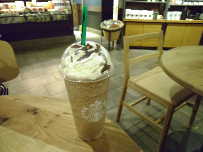 Venti Starbucks Java Chip Frappuccino with Sweetened Whipped Cream and Mocha Drizzle