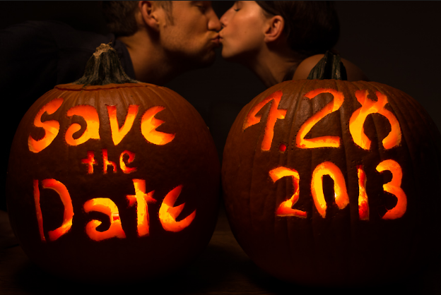 Save The Date Halloween Wedding