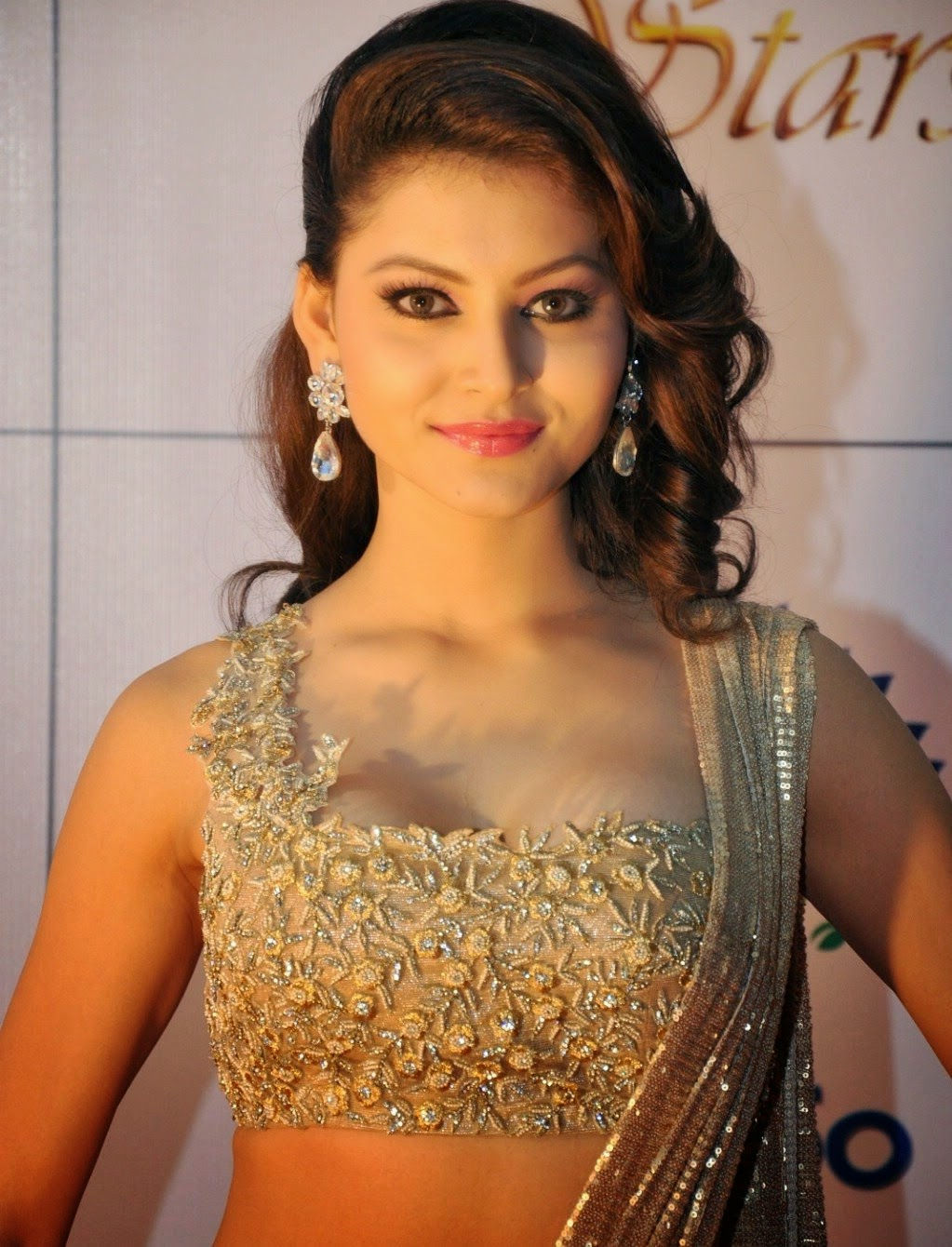Urvashi Rautela, Samantha Hot In Designer Dress  Cute -1172