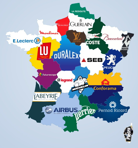 The most famous brand from every french regions