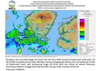 Awas, Lobar dan Mataram Berpotensi Diguyur Hujan Hingga April