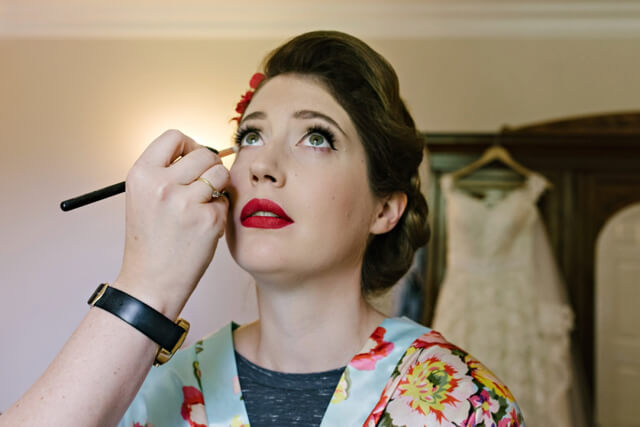 Vintage 50s pin-up style wedding makeup by Love Moi Makeup