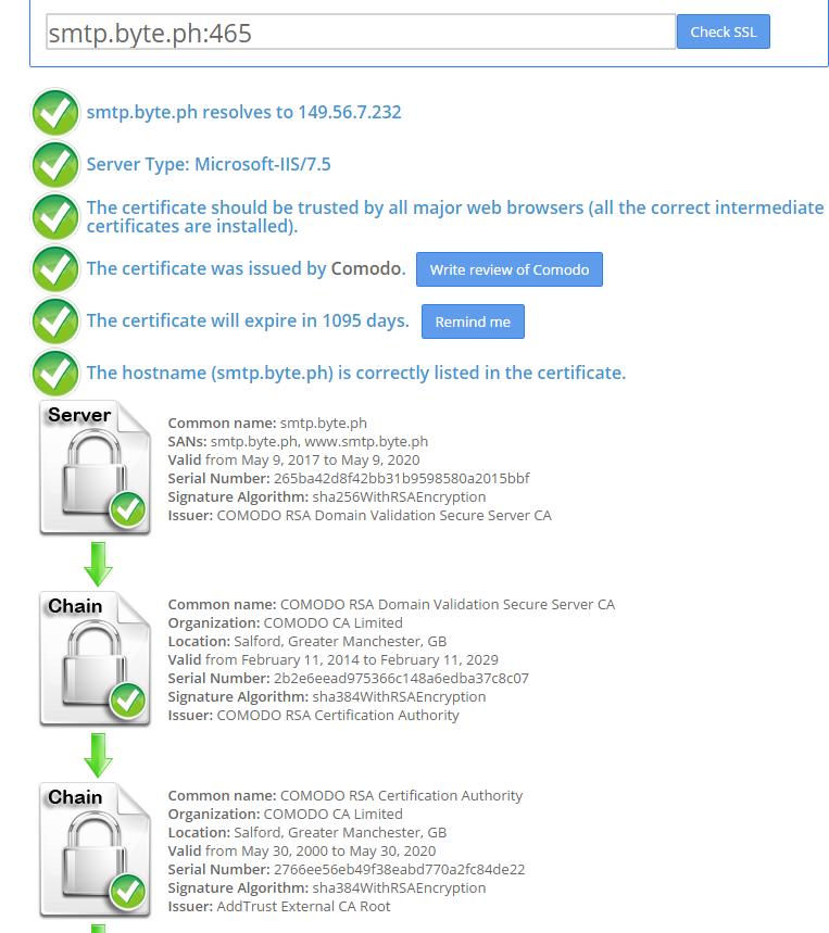 Install And Configure Hmailserver Ssl Using Comodo Positive Ssl Byte